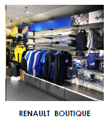 Mobilier commercial Renault Boutique